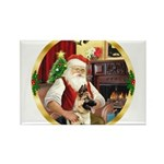 Santa's German Shepherd Rectangle Magnet