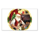 Santa's German Shepherd Sticker (Rectangle)