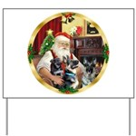 Santa's 2 German Shepherds Yard Sign
