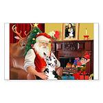 Santa's Great Dane (H) Sticker (Rectangle)