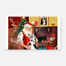 Santa's Great Dane (H) Rectangle Car Magnet