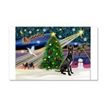 XmasMagic/Black Dane Car Magnet 20 x 12