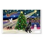XmasMagic/Black Dane Sticker (Rectangle 50 pk)