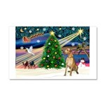 Xmas Magic & Gr Dane Car Magnet 20 x 12