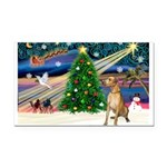 Xmas Magic & Gr Dane Rectangle Car Magnet
