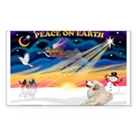 XmasSunrise/Pyrenees 1 Sticker (Rectangle 10 pk)