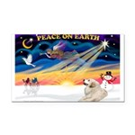 XmasSunrise/Pyrenees 1 Rectangle Car Magnet