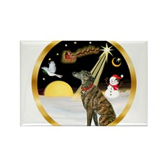 Night Flight/Greyhound (brin) Rectangle Magnet