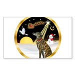 Night Flight/Greyhound (brin) Sticker (Rectangle)