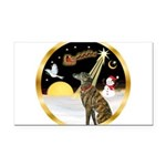 Night Flight/Greyhound (brin) Rectangle Car Magnet