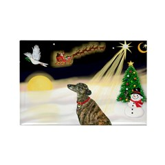 Night Flight/Greyhound (brin0 Rectangle Magnet (10