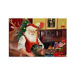 Santa's Greyhound Rectangle Magnet (10 pack)