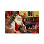 Santa's Greyhound Rectangle Magnet