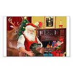 Santa's Greyhound Sticker (Rectangle)