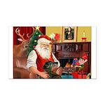 Santa's Greyhound Rectangle Car Magnet