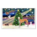 XmasMagic/Greyhound Sticker (Rectangle)