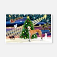 XmasMagic/Greyhound Rectangle Car Magnet