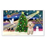 XmasMagic/Havanese pup Sticker (Rectangle 50 pk)