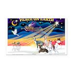 XmasSunrise/4 Ital Greyhounds Rectangle Car Magnet