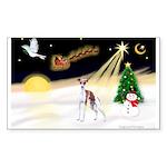 Night Flight/Ital Greyhnd Sticker (Rectangle 10 pk