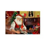 Santa's Ital.Greyt (6) Rectangle Magnet (10 pack)
