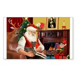 Santa's Ital.Greyt (6) Sticker (Rectangle 50 pk)