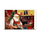 Santa's Ital.Greyt (6) Rectangle Car Magnet
