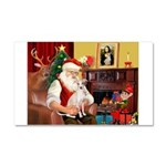 Santa's Ital Greyhound Car Magnet 20 x 12