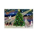 XmasMagic/Ital.Greyt1 Rectangle Magnet (10 pack)