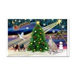 XmasMagic/Ital.Greyt1 Rectangle Car Magnet