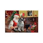 Santa/Keeshond Rectangle Magnet