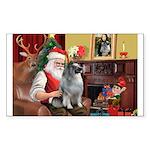 Santa/Keeshond Sticker (Rectangle 50 pk)