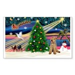 XmasMagic/Lakeland Ter Sticker (Rectangle 10 pk)