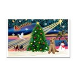 XmasMagic/Lakeland Ter Rectangle Car Magnet