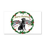 XmasMusic2/Lab (black) Car Magnet 20 x 12