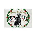 XmasMusic2/Lab (black) Rectangle Magnet