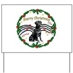 XmasMusic2/Lab (black) Yard Sign