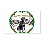 XmasMusic2/Lab (black) Rectangle Car Magnet