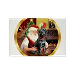 Santa's Lab (blk)#1 Rectangle Magnet (10 pack)