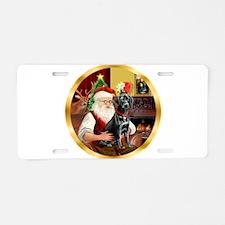 Santa's Lab (blk)#1 Aluminum License Plate