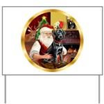 Santa's Lab (blk)#1 Yard Sign