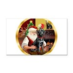 Santa's Lab (blk)#1 Rectangle Car Magnet