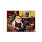 Santa's 2 Black Labs Car Magnet 20 x 12