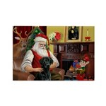 Santa's Black Lab Rectangle Magnet