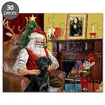 Santa's Black Lab Puzzle