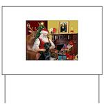 Santa's Black Lab Yard Sign