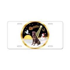 Night Flight/Lab (choc) #10 Aluminum License Plate