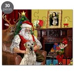 Santa's Yellow Lab #7 Puzzle