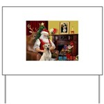 Santa's Yellow Lab #7 Yard Sign