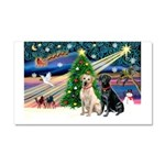 XmasMagic/ 2 Labs (Y&B) Car Magnet 20 x 12